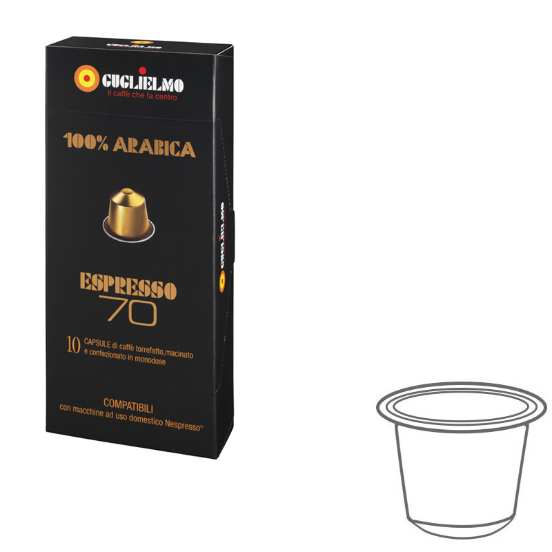 Espresso70 100% Arabica Capsules 120 pieces