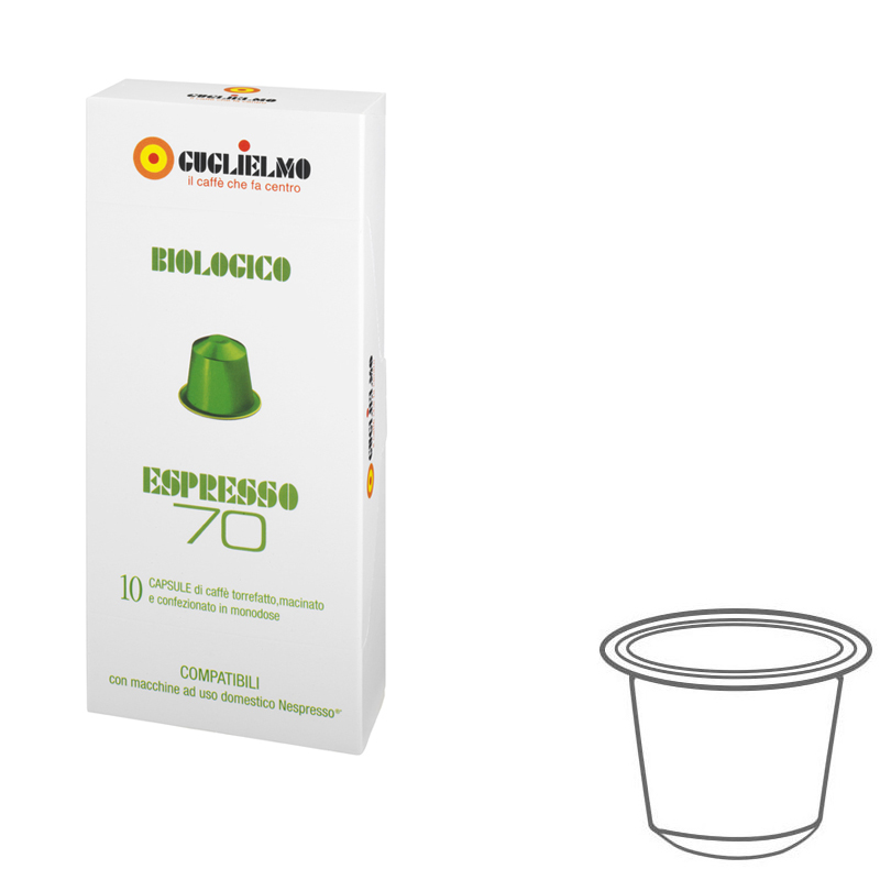 Espresso70 Organic Coffee Capsules 100 Pieces