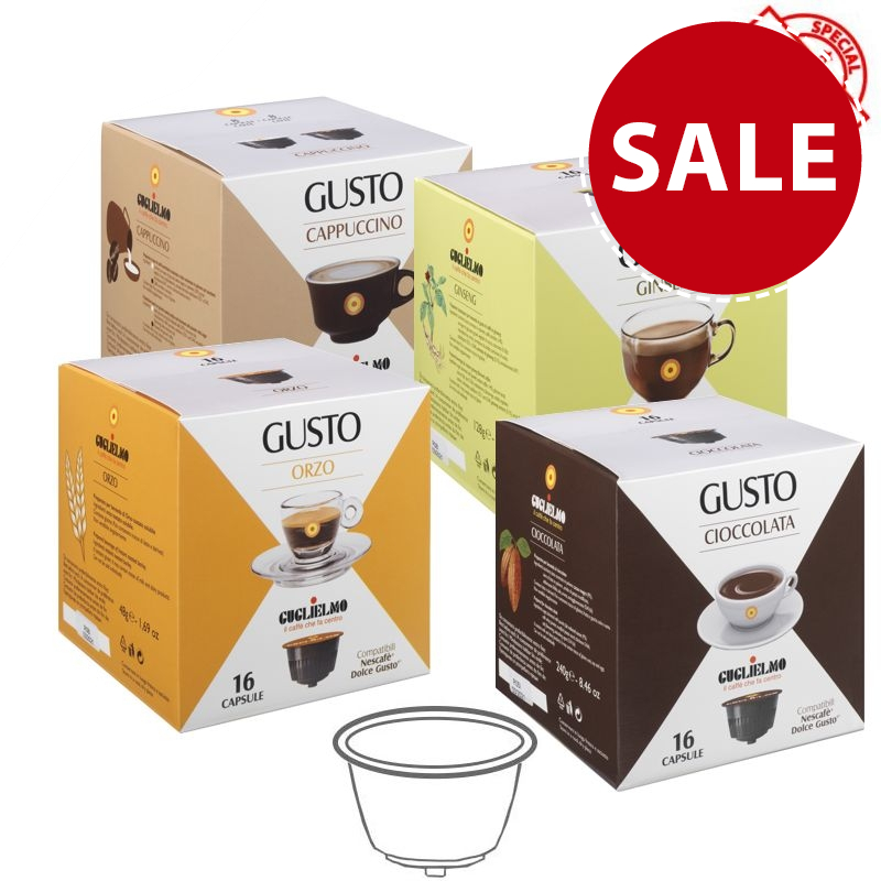 Gusto Tasting Pack Drinks Capsules 192 Pieces - SPECIAL LAUNCH OFFER!