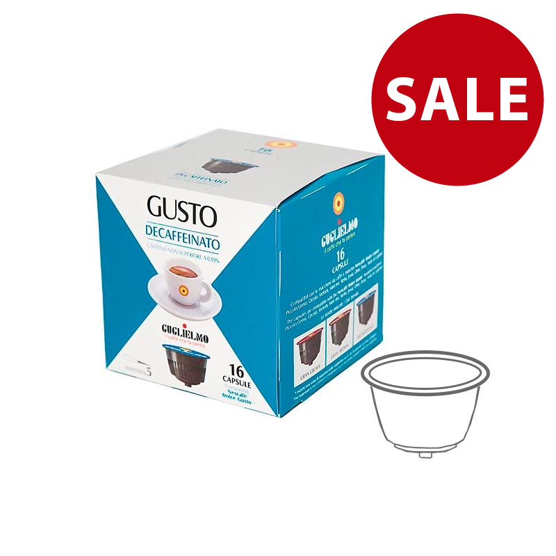Gusto Decaffeinated Capsules 128 Pieces
