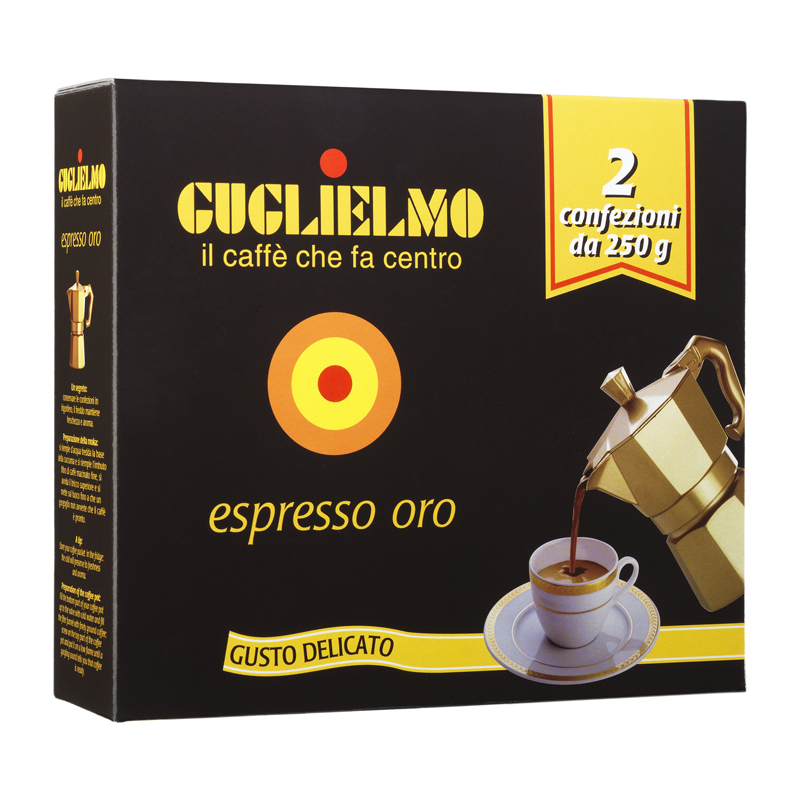 Espresso Oro Bipack 2x250 gr Ground (5Kilos-10Pieces)